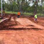 Construction Workers with Shovel — Concreting in Marlow Lagoon, NT